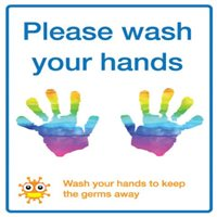 Children's please wash your hands sign