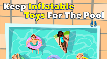 Keep inflatables for the pool